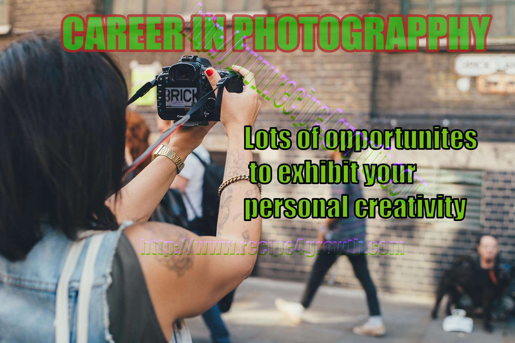Career Decision: Photography an option for one that loves working in an informal setting.