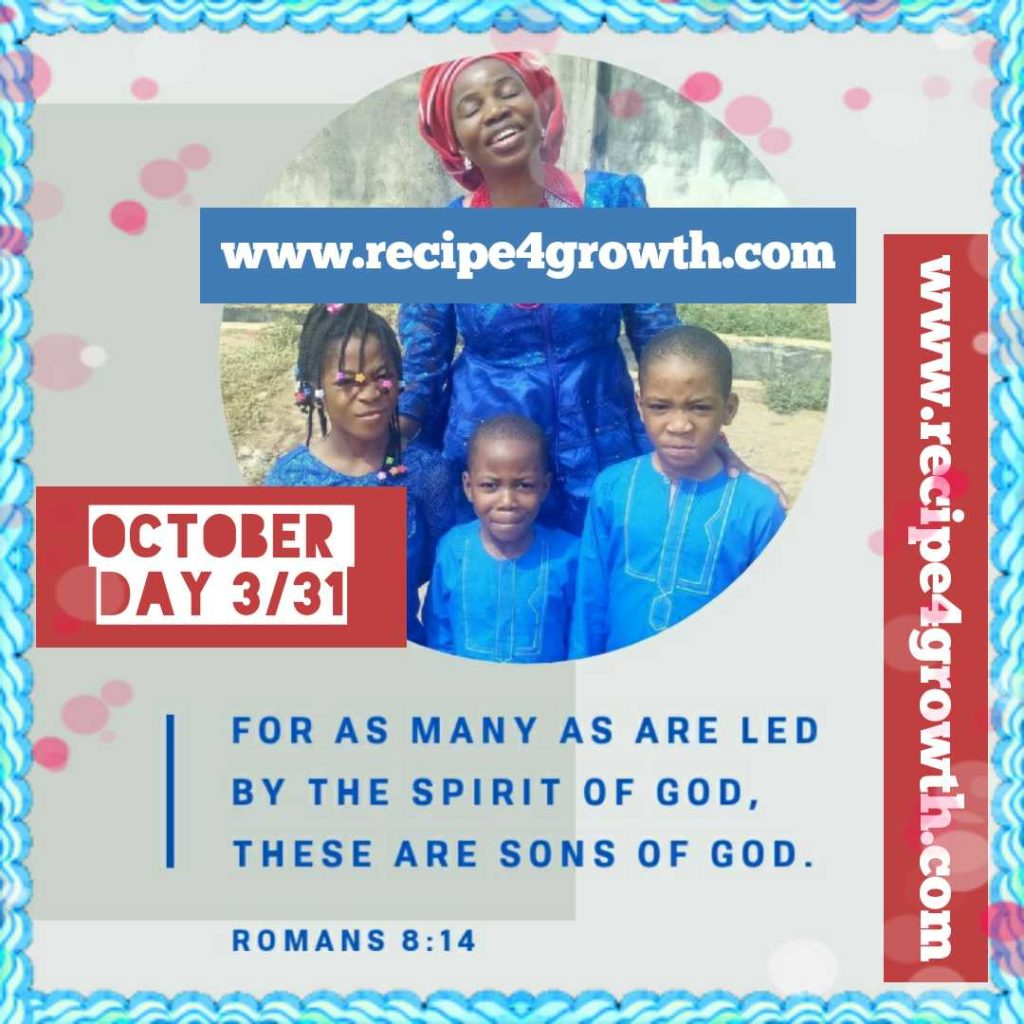 OCTOBER DAILY BIBLE VERSE DAY 3