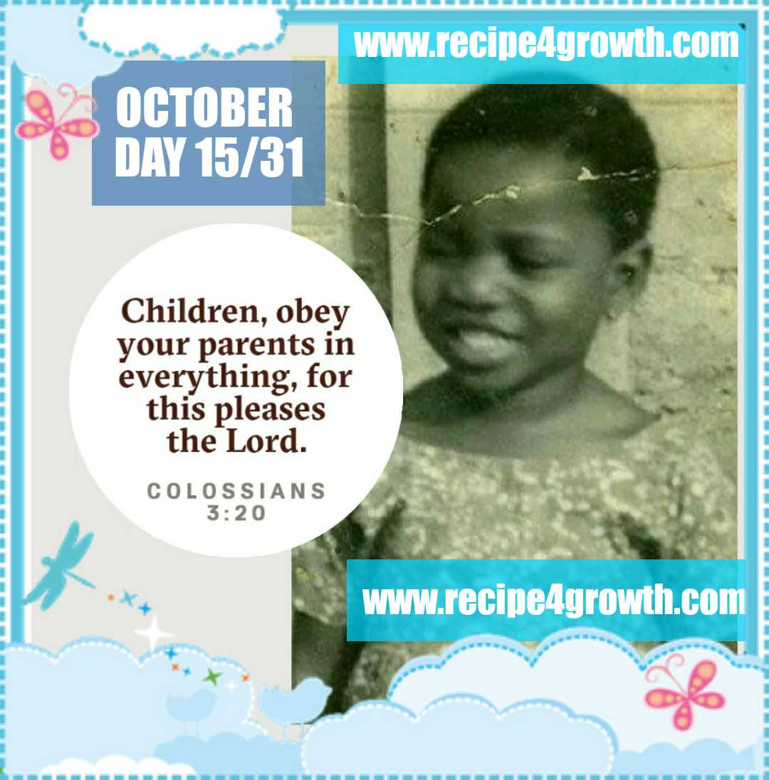 GOD REWARDS OBEDIENCE TO PARENTS