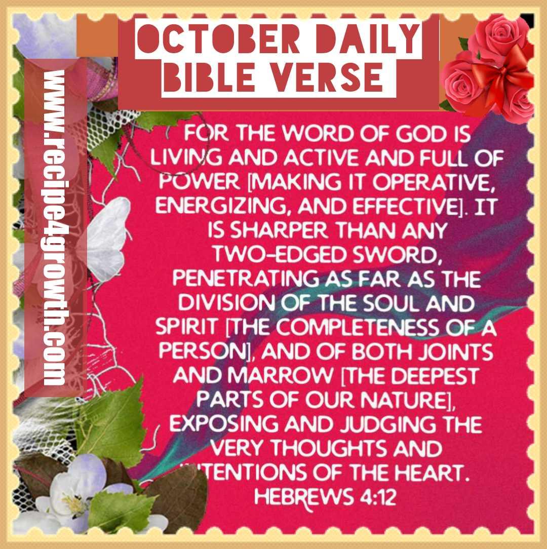 OCTOBER DAILY BIBLE VERSE: SOUL NOURISHMENT