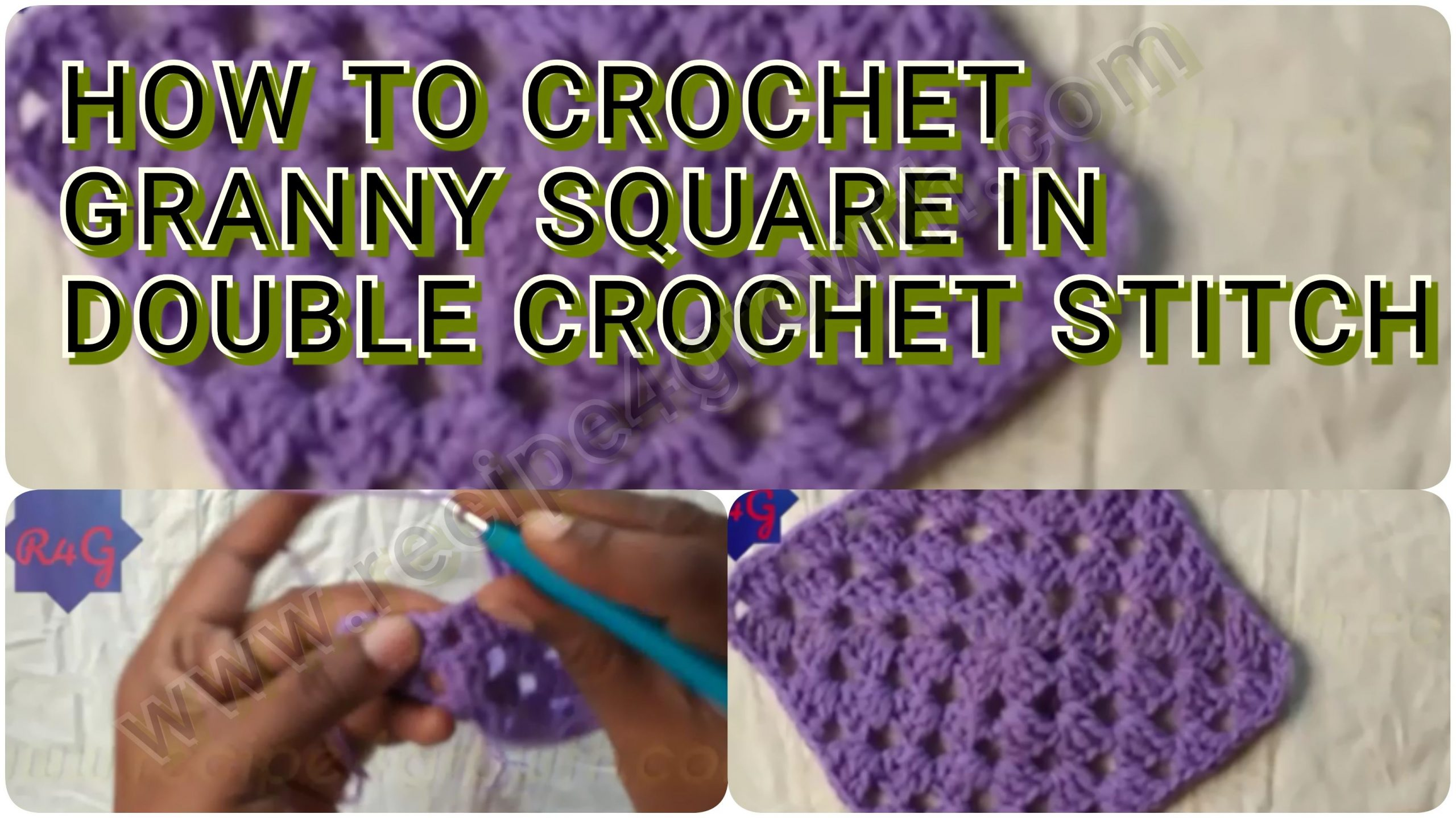HOW TO CROCHET GRANNY SQUARE