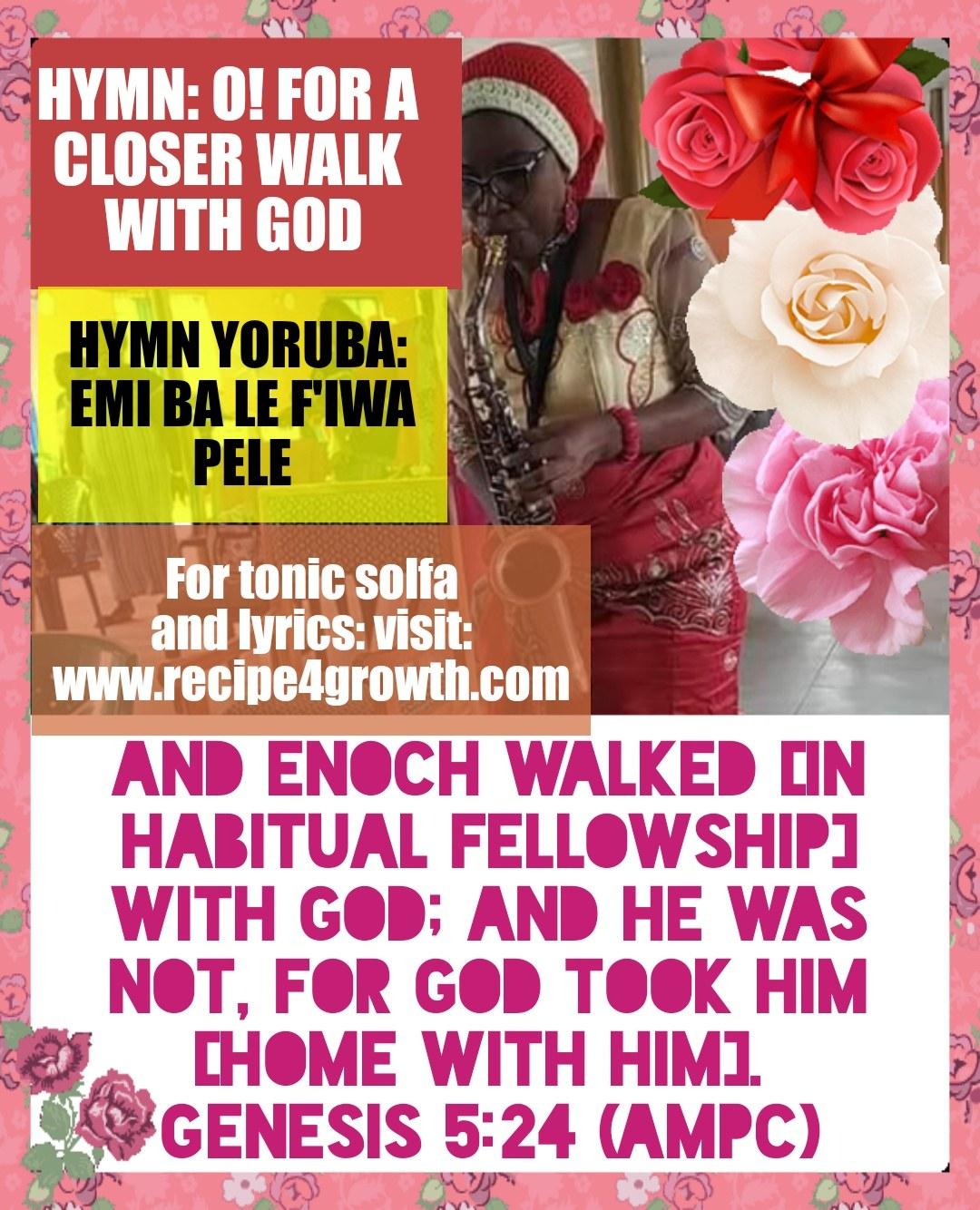 O! FOR A CLOSER WALK WITH GOD